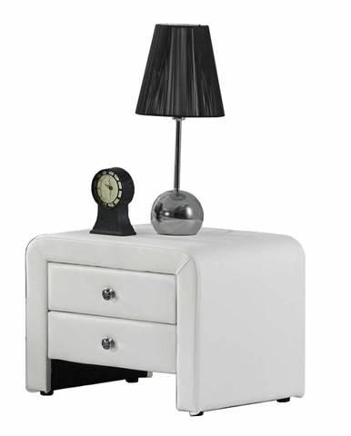 Wilson čalúnený nočný stolík biela