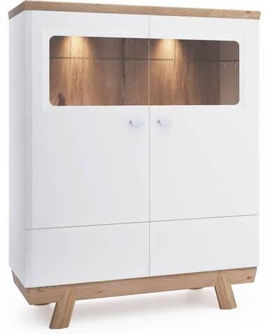 Aspen AS-KB barová skrinka biely vysoký lesk