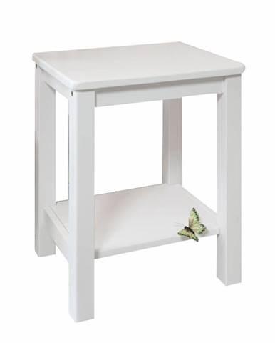 Fosil nočný stolík biela