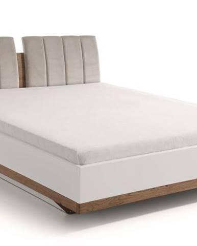 Como CM-3 140 manželská posteľ biely vysoký lesk