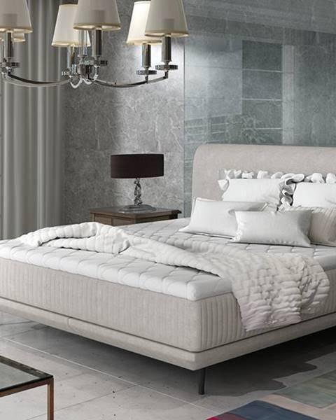 NABBI Ancona 180 čalúnená manželská posteľ svetlosivá (Orinoco 21)