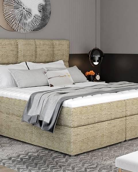 NABBI Grosio 165 čalúnená manželská posteľ s úložným priestorom cappuccino