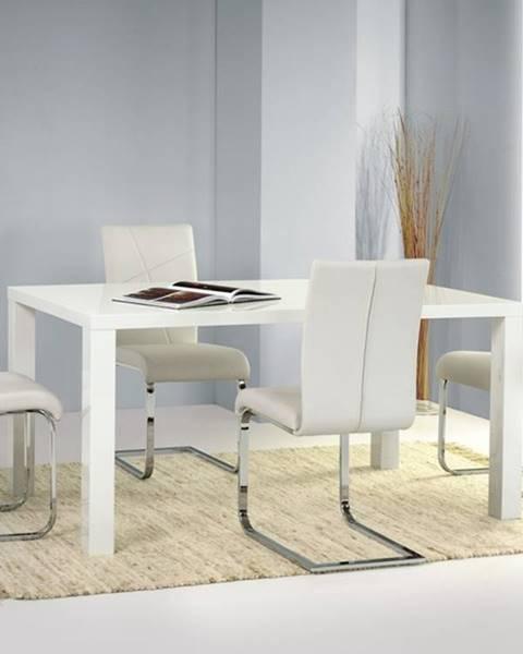 Halmar Ronald 120 jedálenský stôl biely lesk