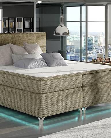 Avellino 180 čalúnená manželská posteľ s úložným priestorom cappuccino