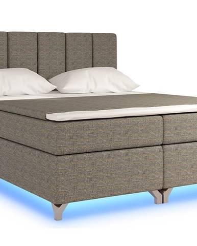 Barino 160 čalúnená manželská posteľ s úložným priestorom sivá (Berlin 01)