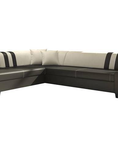 Pinero II L rohová sedačka s rozkladom a úložným priestorom čierna