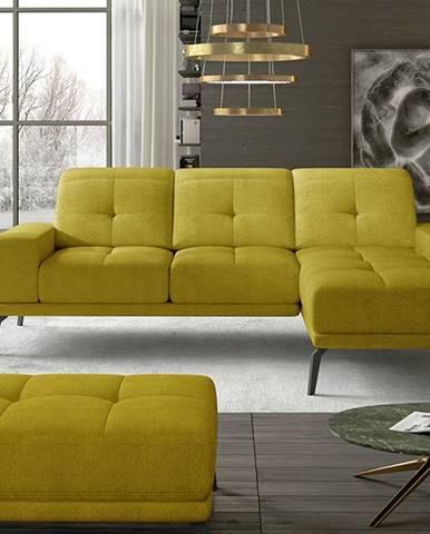 Tirreno P rohová sedačka žltá
