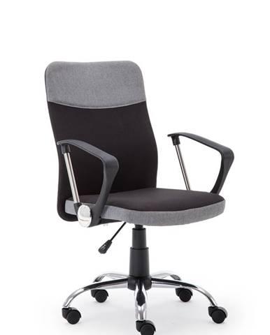 Topic kancelárska stolička s podrúčkami sivá