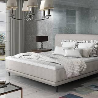Ancona 180 čalúnená manželská posteľ svetlosivá (Orinoco 21)