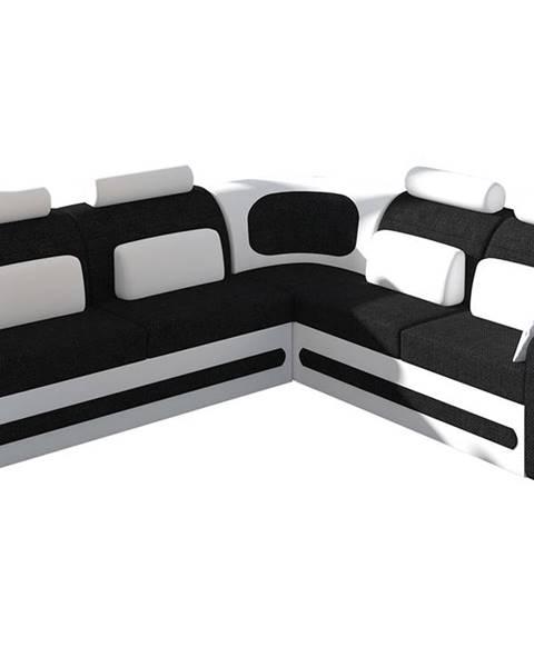 NABBI Bolzano P rohová sedačka s rozkladom a úložným priestorom čierna (Sawana 14)