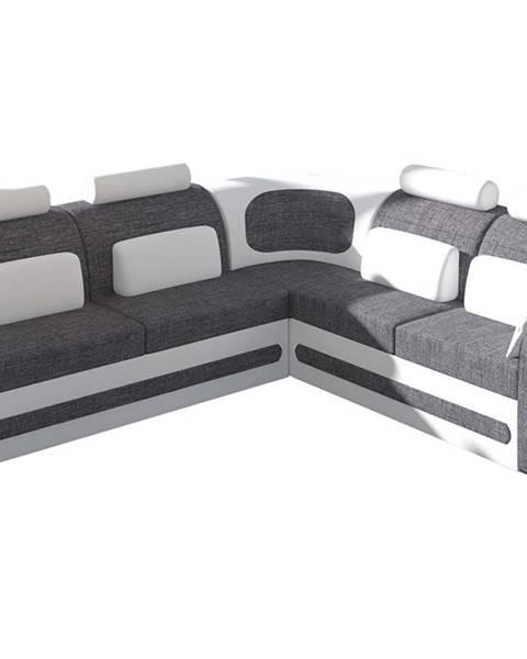 NABBI Bolzano P rohová sedačka s rozkladom a úložným priestorom sivá (Sawana 05)
