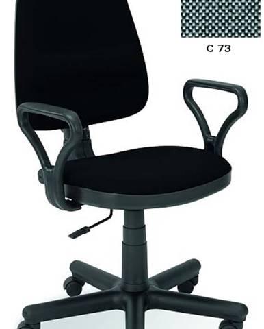 Bravo kancelárska stolička s podrúčkami sivá (C73)