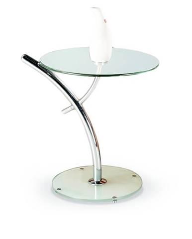 Iris sklenený konferenčný stolík priehľadná