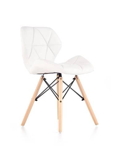 K281 jedálenská stolička biela