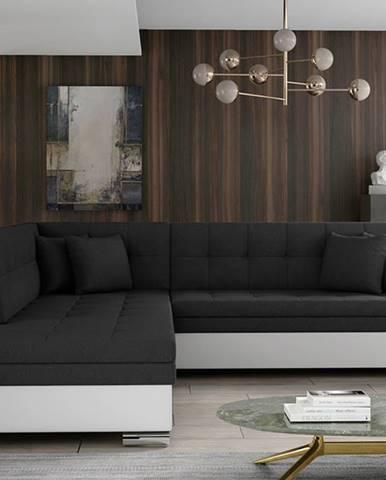 Pescara L rohová sedačka s rozkladom čierna (Sawana 14)