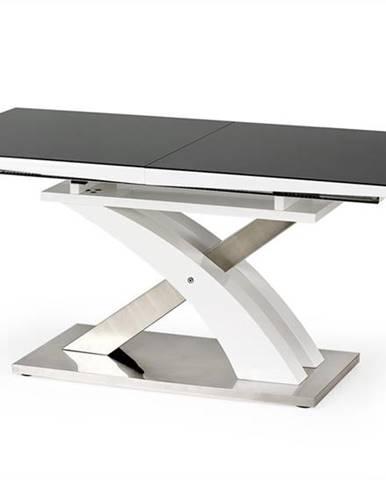 Sandor 2 rozkladací jedálenský stôl čierny lesk