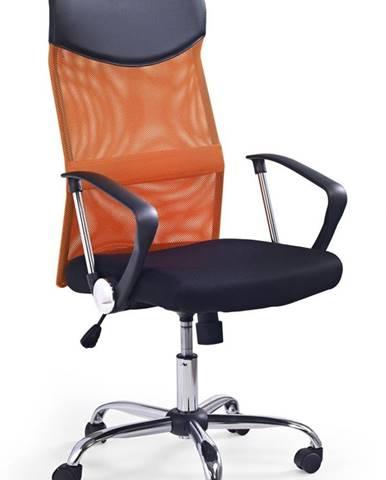 Vire kancelárska stolička s podrúčkami oranžová