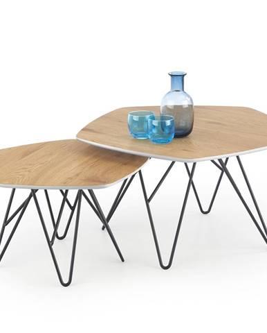 Zero konferenčný stolík (2 ks) dub zlatý