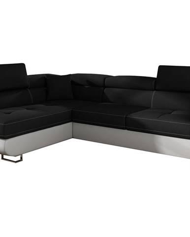 Almero L rohová sedačka s rozkladom a úložným priestorom čierna