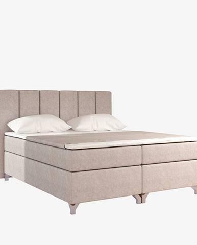 Barino 160 čalúnená manželská posteľ s úložným priestorom béžová (Dora 21)