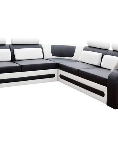 Bolzano L rohová sedačka s rozkladom a úložným priestorom čierna (Soft 11)
