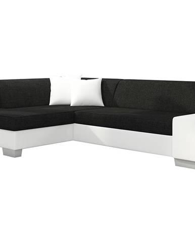 Ferol L rohová sedačka s rozkladom a úložným priestorom čierna (Sawana 14)
