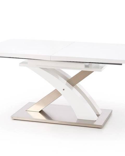 Halmar Sandor rozkladací jedálenský stôl biely lesk