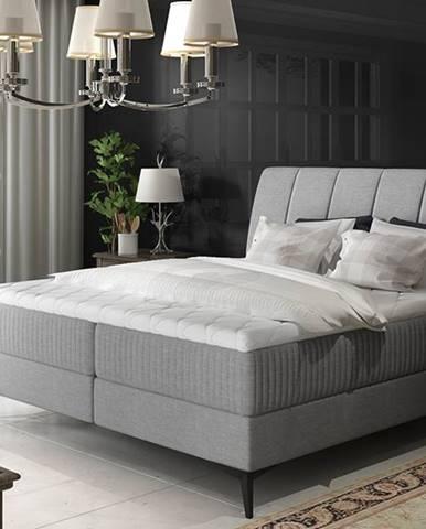 Altama 160 čalúnená manželská posteľ s úložným priestorom svetlosivá (Sawana 21)