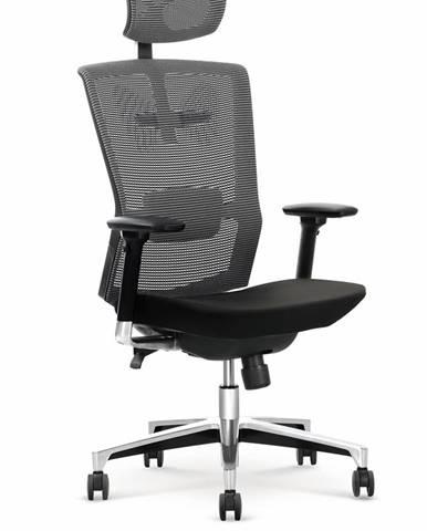 Ambasador kancelárska stolička s podrúčkami čierna
