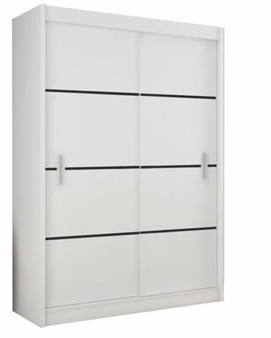 Merina 150 2D šatníková skriňa s posuvnými dverami biela