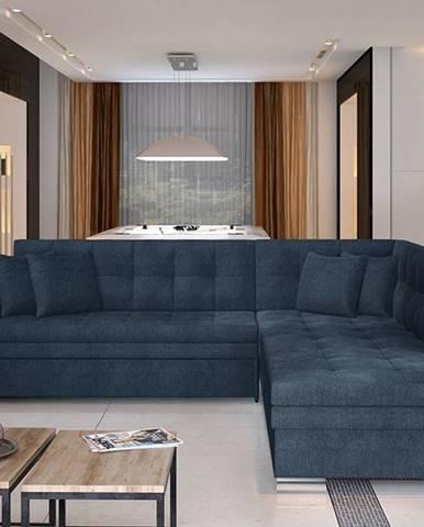 Pescara P rohová sedačka s rozkladom modrá (Omega 86)