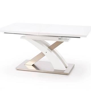 Sandor rozkladací jedálenský stôl biely lesk