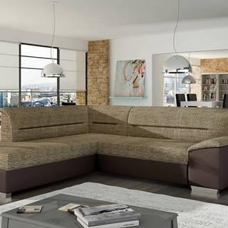 Vora L rohová sedačka s rozkladom a úložným priestorom cappuccino