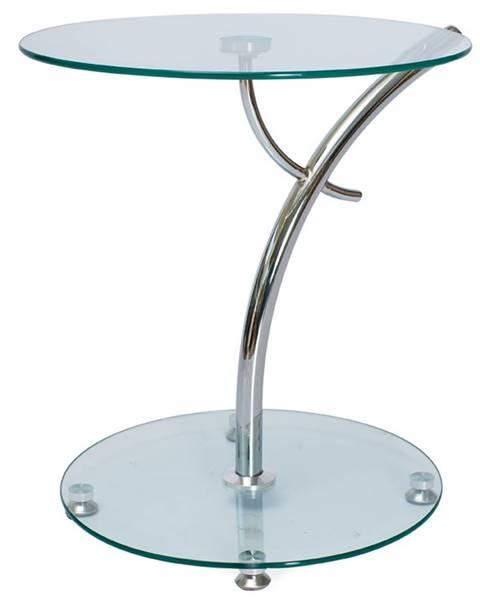 Signal Muna sklenený konferenčný stolík priehľadná
