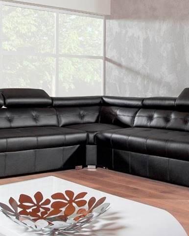 Etna II L kožená rohová sedačka s barom čierna (Madras S16)