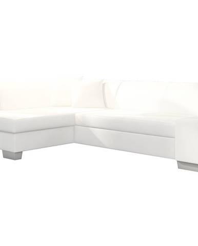 Ferol L rohová sedačka s rozkladom a úložným priestorom biela