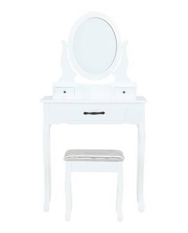 Linet New toaletný stolík s taburetkou biela