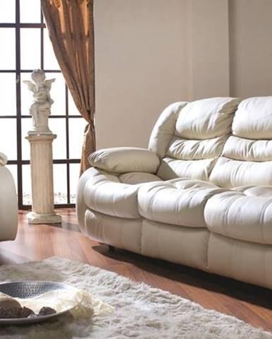 Regan kožená sedacia súprava krémová (Madras G100)