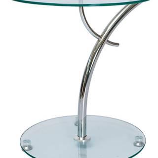 Muna sklenený konferenčný stolík priehľadná
