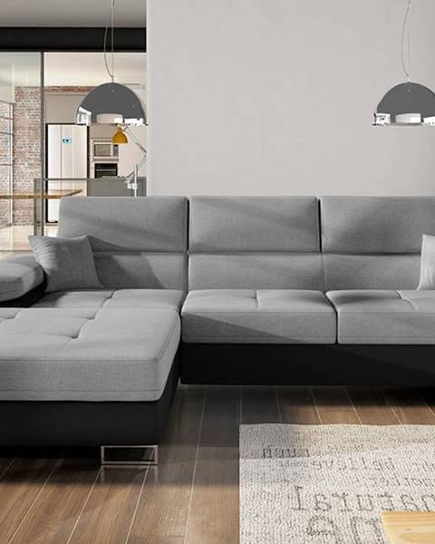 NABBI Alkazar L rohová sedačka s rozkladom a úložným priestorom sivá (Sawana 05)