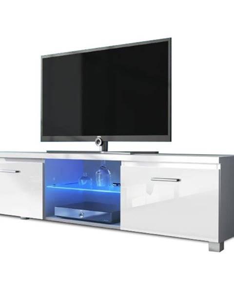 Kondela Lugo 2 tv stolík biela