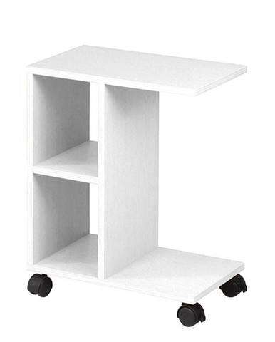 Abbas New príručný stolík na kolieskach biela