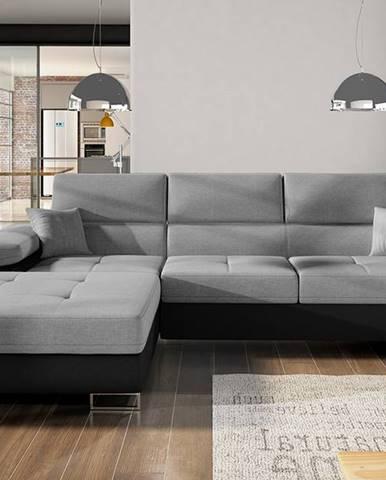 Alkazar L rohová sedačka s rozkladom a úložným priestorom sivá (Sawana 05)