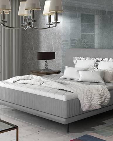 Ancona 140 čalúnená manželská posteľ sivá (Jasmine 90)