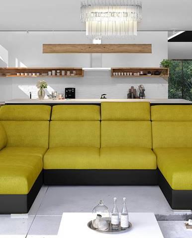 Ermo U L rohová sedačka u s rozkladom a úložným priestorom žltá