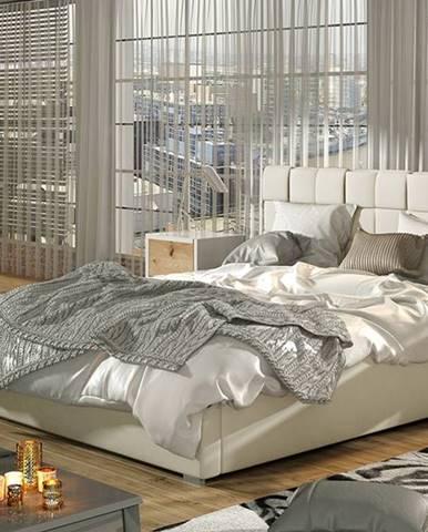 Galimo UP 200 čalúnená manželská posteľ s roštom béžová
