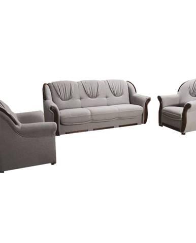 Mety 3+1+1 rozkladacia sedacia súprava s úložným priestorom sivá