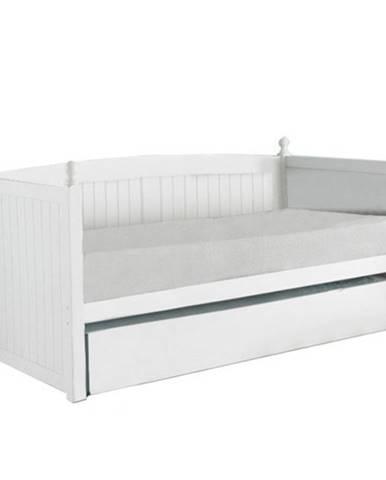 Glamis 90 drevená rozkladacia posteľ s prísteľkou biela