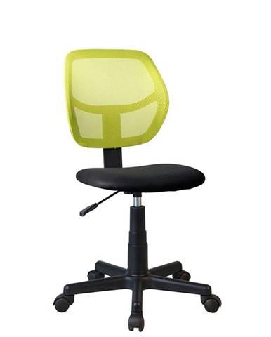 Mesh kancelárska stolička zelená