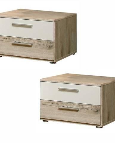 Valeria 2 nočný stolík (2 ks) dub pieskový
